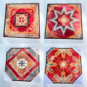 Bohemian Moroccan Colorful Tile Deco Box Set x 4